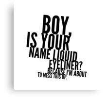 Liquid Eyeliner Canvas Print