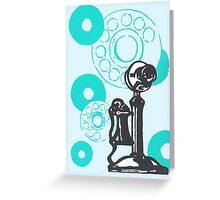 Turquoise Vintage Telephone Greeting Card
