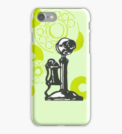 Green Vintage Telephone iPhone Case/Skin