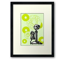 Green Vintage Telephone Framed Print