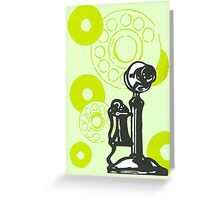 Green Vintage Telephone Greeting Card