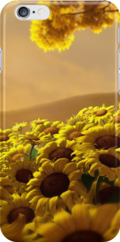SUNFLOWER - IPHONE CASE by mcdba