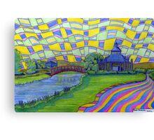 361 - WANSBECK BUSINESS PARK, ASHINGTON - DAVE EDWARDS - COLOURED PENCILS - 2012 Canvas Print