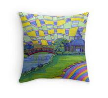 361 - WANSBECK BUSINESS PARK, ASHINGTON - DAVE EDWARDS - COLOURED PENCILS - 2012 Throw Pillow