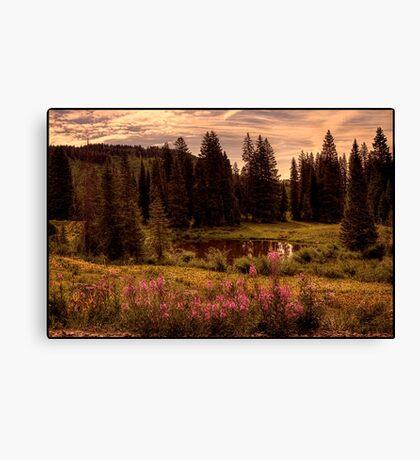 Retro Landscape Canvas Print