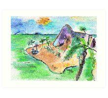 SORRY GONE TO DESERTED ISLAND(C2012) Art Print