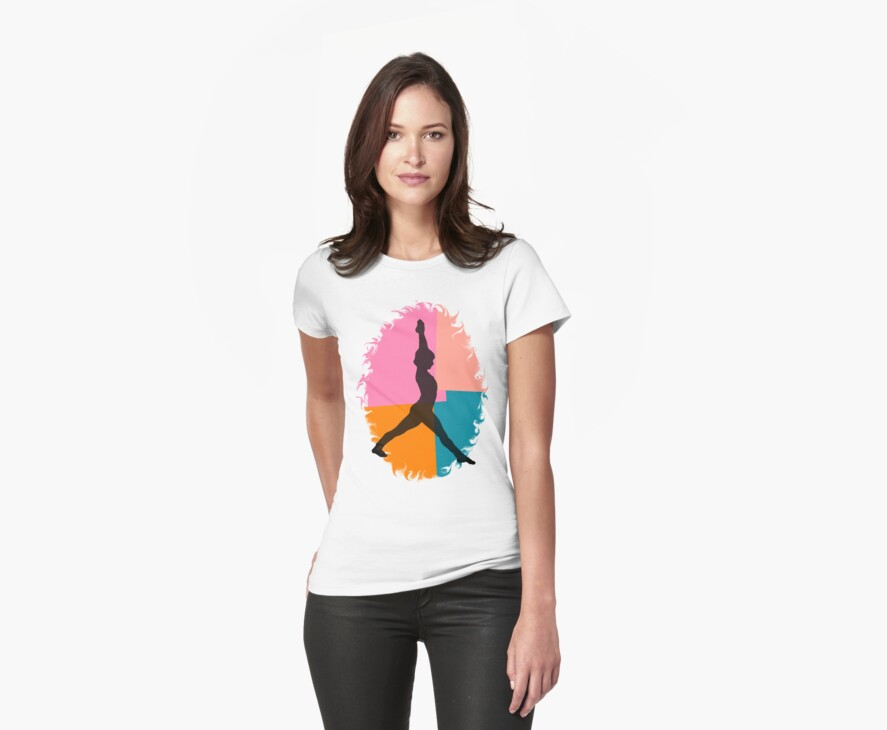 Abstract Yoga T-Shirt by T-ShirtsGifts