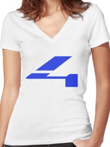 Halo 4 Grainy Fill Women's Fitted V-Neck T-Shirt