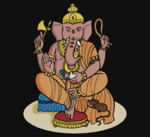 Ganesha T-Shirt One Piece - Short Sleeve