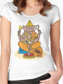 Ganesha T-Shirt Women's Fitted Scoop T-Shirt