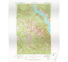 USGS Topo Map Washington State WA Lucerne 242087 1944 62500 Poster
