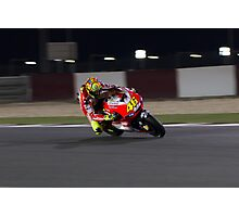 Valentino Rossi in Qatar 2011 Photographic Print