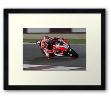 Nicky Hayden in Qatar 2011 Framed Print