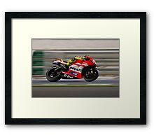 Valentino Rossi in Qatar 2011 Framed Print