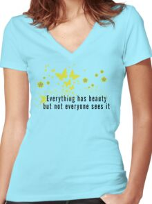 Yoga Quote T-Shirt Women's Fitted V-Neck T-Shirt