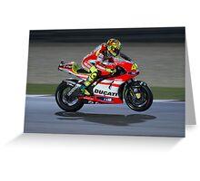 Valentino Rossi in Qatar 2011 Greeting Card
