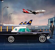 57' Ford Thunderbird - Adelaide Airport, South Australia by Mark Richards