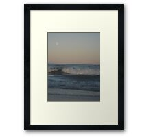 Moon Over Ocean 3 Framed Print