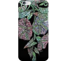 Art Nouveau Morning Glory Isolated On Black iPhone Case/Skin