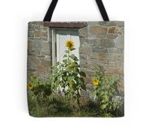 Sunflowers and the Old Stone Wall Tote Bag
