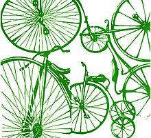 Green Bikes Photographic Print