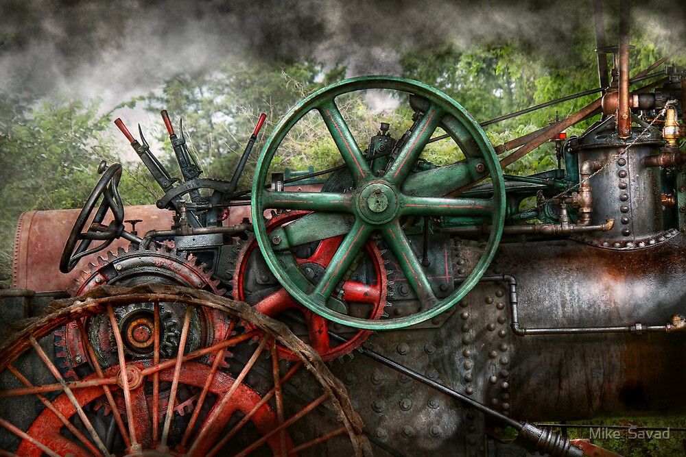 Steampunk - Machine - Transportation of the future by Mike  Savad