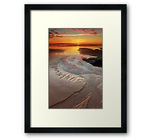 pathway to the sun... Framed Print