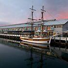 Hobart Wharf. by Peter Hodgson