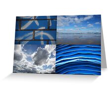 Blue Details Greeting Card