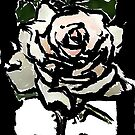 OUTLINED Rose by DawnCooke