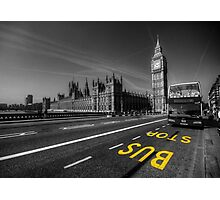 Big Ben bus stop Photographic Print