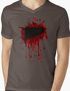 Blood Splat Mens V-Neck T-Shirt