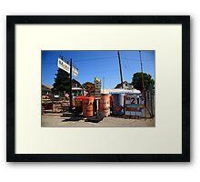 Route 66 Filling Station Framed Print