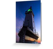 Ludington Lighthouse at Twilight Greeting Card