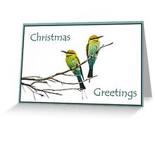 Bee-eater Christmas greetings Greeting Card