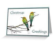 Bee-eater Christmas greetings Greeting Card