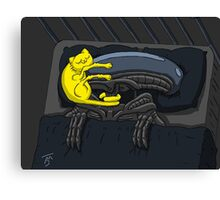 Alien's Cat (Specially Detailed) Canvas Print