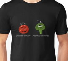 Funny Veggies Broccoli and Tomato Unisex T-Shirt