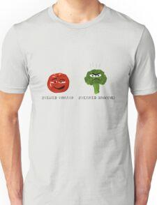 Funny Veggies Broccoli and Tomato Unisex T-Shirt
