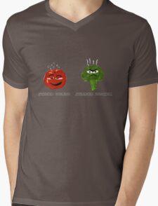 Funny Veggies Broccoli and Tomato Mens V-Neck T-Shirt