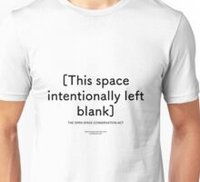 This space intentionally left blank Unisex T-Shirt