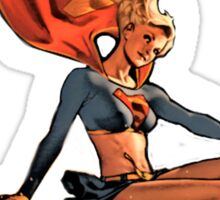 Sexy Heroic Supergirl Bombshell Sticker