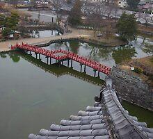 Japanese Bridge at Matsumoto Castle 松本城で日本の橋 by jeffreynelsd