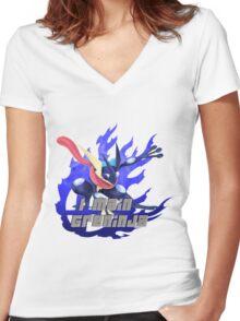 I MAIN GRENINJA Women's Fitted V-Neck T-Shirt