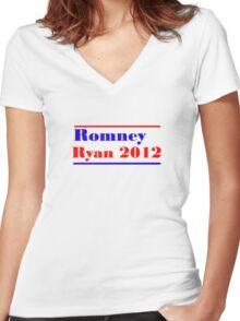 Mitt Romney/Paul Ryan Election Shirt Women's Fitted V-Neck T-Shirt