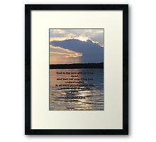 Proverbs 3:5-6 Framed Print
