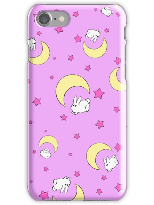 Tsukino Usagi Bed Sheet iPhone Case by Oshiokiyo
