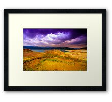Painted Storm Framed Print