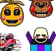 Five Nights at Freddy's 2 - Pixel art - Various Characters Sticker pack 2 by GEEKsomniac