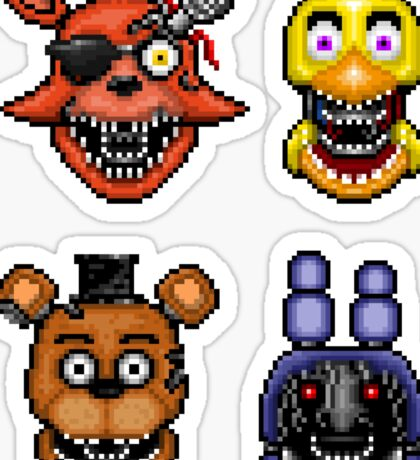 Five Nights at Freddy's 2 - Pixel art - Withered Classics Sticker pack Sticker